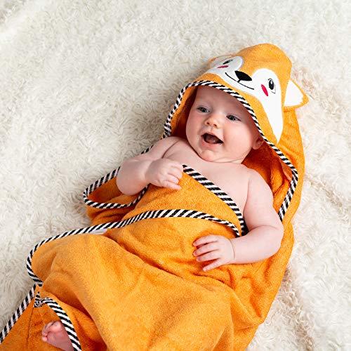 BEING Baby- Toalla con Capucha para bebé - Toalla de Playa - Bambú - Extra Grande y Absorbente - Recién Nacido a Seis años - Unisex
