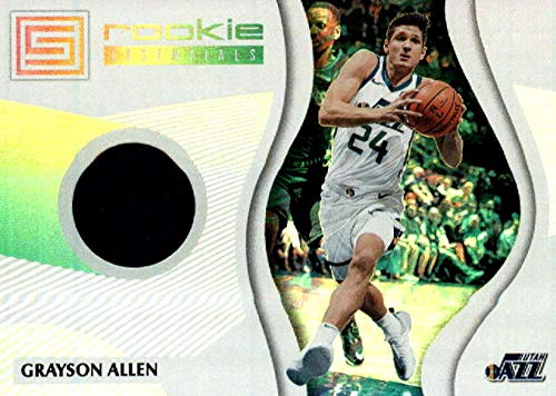 2018-19 Panini Status Rookie Essentials #22 Grayson Allen Utah Jazz RC Rookie Game Used Jersey NBA Basketball Trading Card
