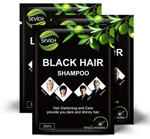 Black Hair Shampoo - Shampoo gegen graue Haare - Schwarzes Haarshampoo zur Grauabdeckung - Ist Ihre natürliche Haarfarbe schwarz? Möchten sie Ihre schwarze Haarfarbe zurück? Graue Haare, nee!