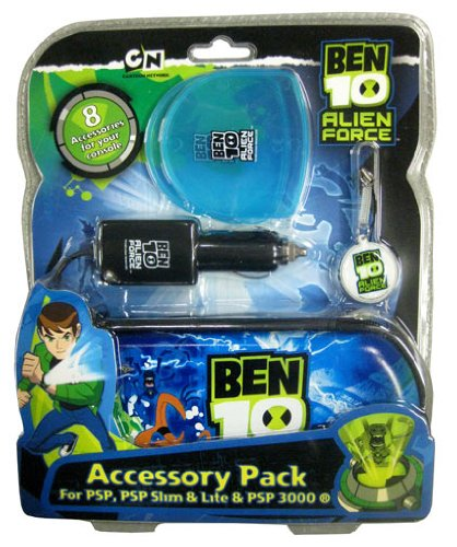 Ben 10 Licenced Alien Force Accessory Pack for PSP, PSP Slim & Slite & PSP 3000 - 8 Accessories for your console