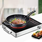 Portable Induction Cooker, 2200W Induction Stove Countertop Burner Sensor Touch Portable Induction...
