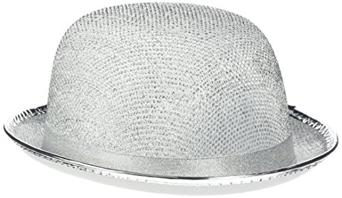 Rire Et Confetti - Fiedis062 - Accessoire pour Déguisement - Chapeau Melon Pailleté Argent