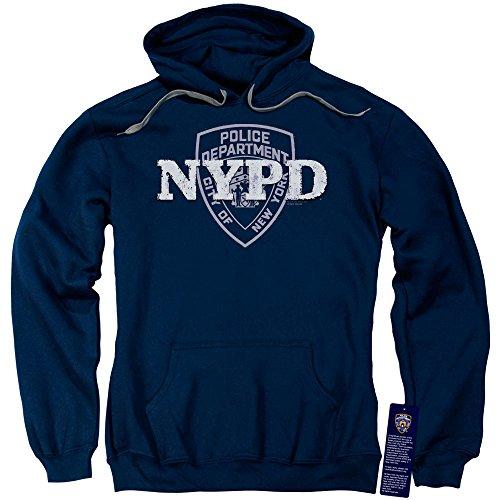 New York City - - Männer NYPD Pullover Hoodie, Medium, Navy