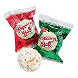 Christmas Popcorn Balls (Individually wrapped 24 pack) Holiday Candy and Snacks
