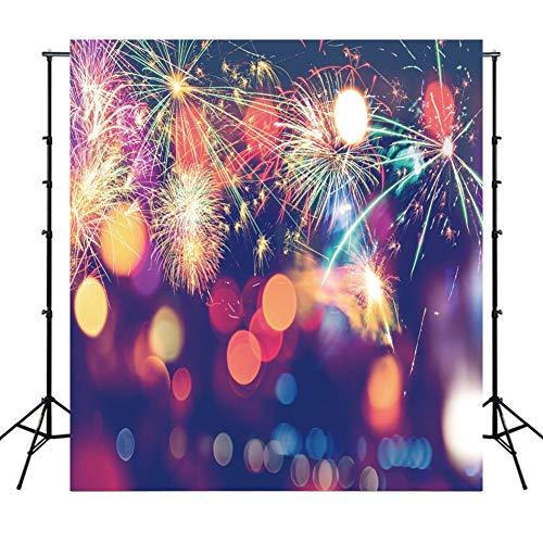 WQYRLJ Seascape slot vuurwerk fotografie backdrops goede glijbaan in het nieuwe jaar foto-achtergrond stof foto achtergrond props 10x10ft A
