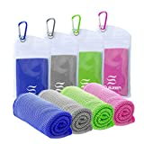 Cooling Towel(40'x12') Microfiber Towel Yoga Towel for Men or Women Ice Cold Towels for Yoga Gym Travel Camping Golf Football & Outdoor Sports