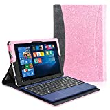 ACdream Case Fits 2018 RCA Cambio 10.1' W101SA23T1S / W101SA23T2, Multiple Angle Viewing with Pocket Business Cover Case for 10.1 inch RCA Cambio 2-in-1 Window Tablet with Kickstand, Glitter Pink