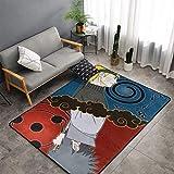 haoqianyanbaihuodian Alfombra Naru-to Uchiha Sasuke para dormitorio, camping, suave, para niños, niñas, guardería, hogar, habitación, cómoda y duradera, alfombra de poliéster de 156 x 95 cm