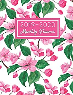2019-2020 Monthly Planner: Purse Size Day Planner with Calendar View | 16 Months - September 2019 - December 2020 | Cherry Blossom