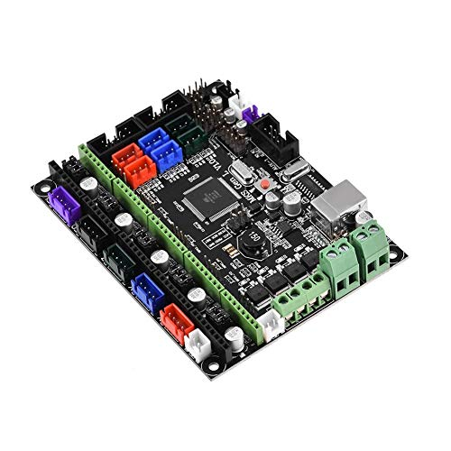 Bewinner MKS Gen L V1.0 Placa del Controlador 3D 24 V LCD/TFT Placa del Controlador Kit de Impresora 3D Rampas de la Placa Base Extremo con Doble Toque con Cable USB de 53 cm
