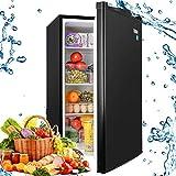 Compact Refrigerator, 4.5Cu.Ft(128L), TECCPO, Mini Fridge with LED Light, Energy Star, Super Quiet, Reversible...
