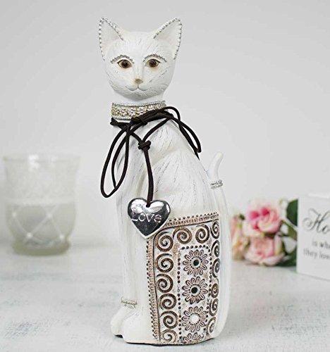 L'Esprit Des Anges Grand Chat Blanc décoratif