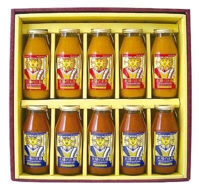 太陽の王様「オレンジキャロル、サンチェリー」180ml10本ギフト 北海道産有機ミニトマトジュース『』