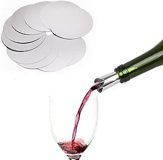 Drop Stop Wine Pouring Disc Mini wine Pour Spouts Reusable, Pack of 10