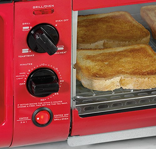 Product Image 6: Nostalgia BSET300RETRORED 3-in-1 Family Size Breakfast Station, Red