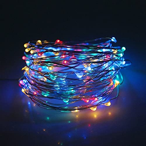 VQAGDV Festoon Lights 50/100/200 LED Solar Light Safe Convenient And Durable Waterproof Fairy Garland Lights String Outdoor Holiday Christmas Party Wedding Solar Lamp Decor