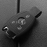 Soft Case Schutz Hülle Auto Schlüssel für Mercedes Benz Smartkey E-Klasse W212 S212 C207 A207 CLS CLA 117 B-Klasse W242 W246 A-Klasse W176 S-Klasse W221 W222 V-Klasse W447 / Farbe: Schwarz