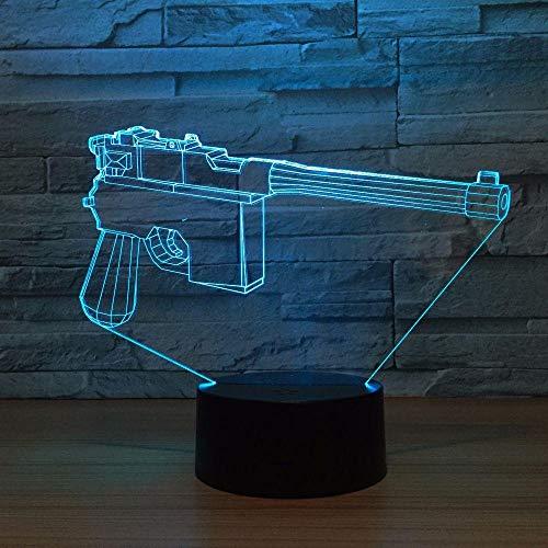 Wangzhongjie Pistola De Modelado 3D Lámpara De Escritorio De Mesa Usb 7 Colores Cambio De Luz Nocturna O Niños Cumpleaños Regalo De Vacaciones Hogar Dormitorio Decoración
