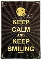 落ち着いて笑顔を保つ メタルポスタレトロなポスタ安全標識壁パネル ティンサイン注意看板壁掛けプレート警告サイン絵図ショップ食料品ショッピングモールパーキングバークラブカフェレストラントイレ公共の場ギフト