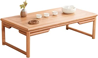 C-J-Xin Wooden Tea Table, Retro Style Japanese Style Coffee Table for Tea Room Living Room Balcony Leisure Reading Table Living Room Furniture (Color : B, Size : 60 * 25 * 40CM)