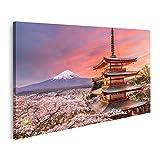 Bild auf Leinwand Fujiyoshida Japan Blick auf den Berg Fuji