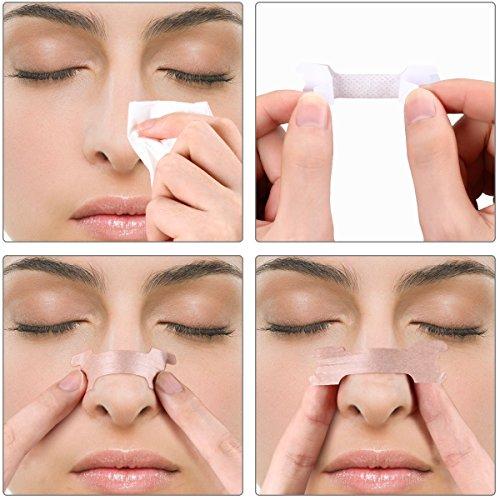 Incutex 100x cerotti nasali per non russare cerotti per naso antirussamento per respirare meglio, taglia L