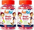 Deal of The Day 2X ActiKid Magic Beans Multi-Vitamin 90x Raspberry Flavour, Gelatin Free, multivitamin for Children, Immune System Booster