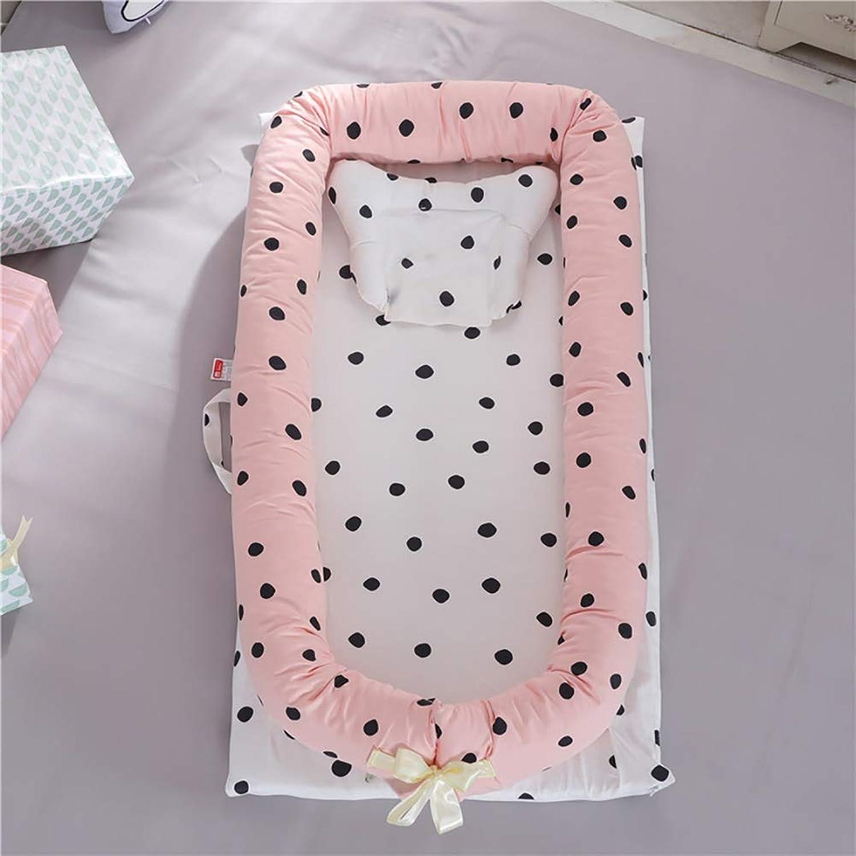 L L Baby Nest Crib Cotton Portable Newborn Isolated Bed Detachable Cover 90  55  15CM 35.4  21.7  5.9 inch, 9