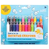 Bath Crayons Super Set - Set of 24 Draw in The Tub Colors with Bathtub Mesh Bag