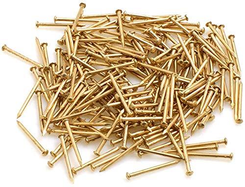 Design61 Rundkopfstifte Nägel Nagel 1,2 x 15 mm Eisen vermessingt 50g ca. 350 Stück