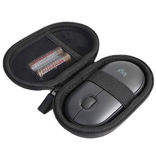 co2CREA case Harte reiseschutzhülle Etui Tasche für Logitech M187 / Logitech M350 Pebble Kabellose Maus (Schwarz)