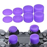 YoRHa Professional Thumb Grips Thumbstick Joystick Cap Cover (Purple) Extra High 8 Units Pack for PS4 Dualshock 4, Switch PRO, PS3, Xbox 360, Wii U Tablet, PS2 Controller