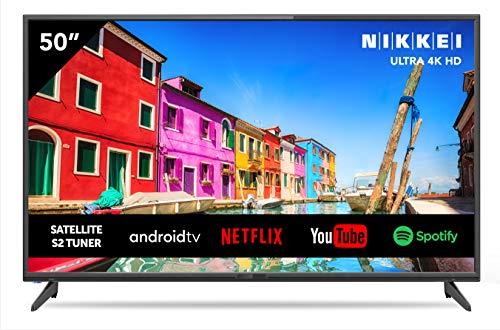Nikkei NU5018S 127 cm/ 50 Zoll Fernseher (Smart TV mit integrierten WLAN/WiFi, 4K Ultra HD, 3840 x 2160, 3X HMDI)