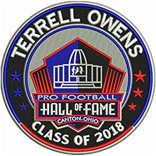 Football Terrell Owens 2018 PRO Hall of Fame Patch 49ERSPRE-Order Item - Shipping Begins ON October 5TH