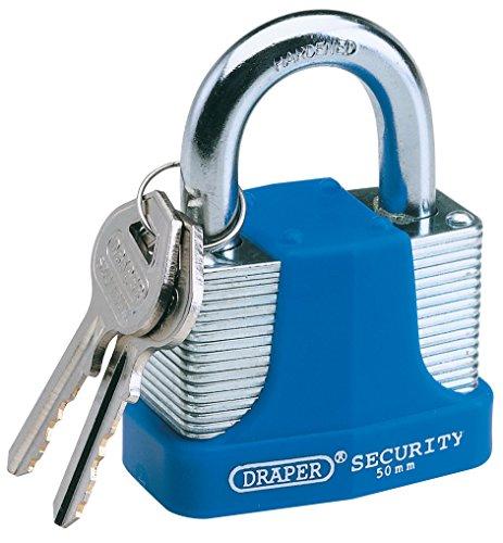 Draper 64179 30mm hoge veiligheid gelamineerd hangslot 30 mm Blauw