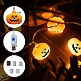 KPCB Halloween Lichterkette, Halloween Kürbis Deko Lichterkette, Kürbis Lichterkette für Halloween, 5.4m 40 LEDs Kürbis Lichter Batteriebetrieben für Halloween Party Hause Garten - 3