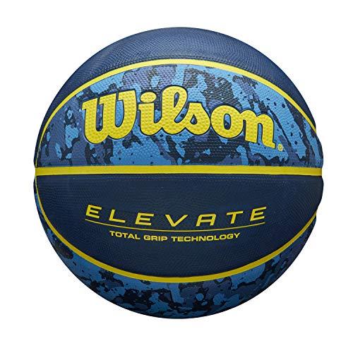 Wilson Pelota de Baloncesto Elevate, para Hombres, Cuero Compuesto, Tamaño 7, Azul, WTB2901ROXB07