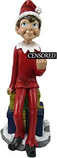 World of Wonders Naughty or Nice Middle Finger Elf | Christmas Decorations | Elf on a Shelf | Holiday Décor Statues and Fi...
