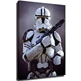Star Wars Clone Trooper Movie Poster Kitchen Wall Art Single Pieces Canvas Prints Ready to Hang for Home Decoration 24x36 inch