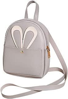 Kwok Women Fashion Girl Pure Color Leather Student School Bag Backpack Shoulder Bag Leisure Bag Crossbody Bag Messenger Bag
