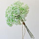 FEIGO 6 Stück Hochzeits Dekoration Schleierkraut Künstlich Gypsophila Kunstblumen Ideal für Zuhause Hochzeit Party Dekor Blumenstrauß Weiß