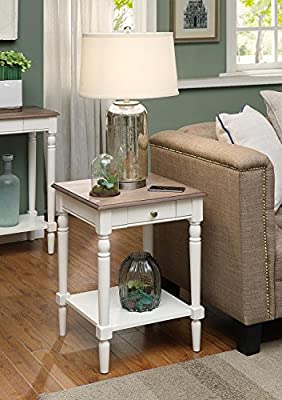 Convenience Concepts End Table with Drawer and Shelf