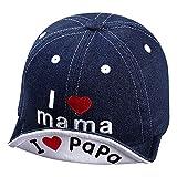Gorra de béisbol para niño, diseño de papá mama, de algodón, gorra antisol, suave, para playa, deporte, viaje, transpirable, para niñas, niños de 3 a 12 meses