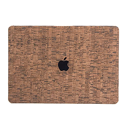 Vegan Cork MacBook Air 13 inch Case Cover A1932/ A2179, Cork Hard Shell Case Protective Cover & Keyboard Cover Compatible with MacBook Air 13 inch (Brown)