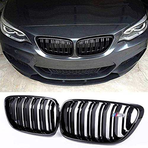 Zonsoon ABS Car Front Grilles Double-slat Replacement Grills Bumper Compatible with BMW 2 Series F22 F23 220i 228i 230i M235i F87 M2 2014 2015 2016 2017 2018