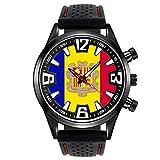 Timest - Bandera de Andorra - Reloj para Hombre con Correa de Silicona SF005