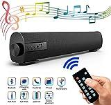Soundbar Lautsprecher für TV, 42.9cm Tragbarer 4.2 Bluetooth Speaker Soundbox mit 2200mAh Akku, 2 x 5W Stereoanlage kabelgebundenes und kabelloses Heimkino Soundbar mit Subwoofer für PC,...