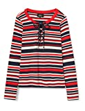 Only Onlbetha L/s Lace Up Top Jrs Camisa, Rojo (High Risk Red), 40 (Talla del Fabricante: Large) para Mujer