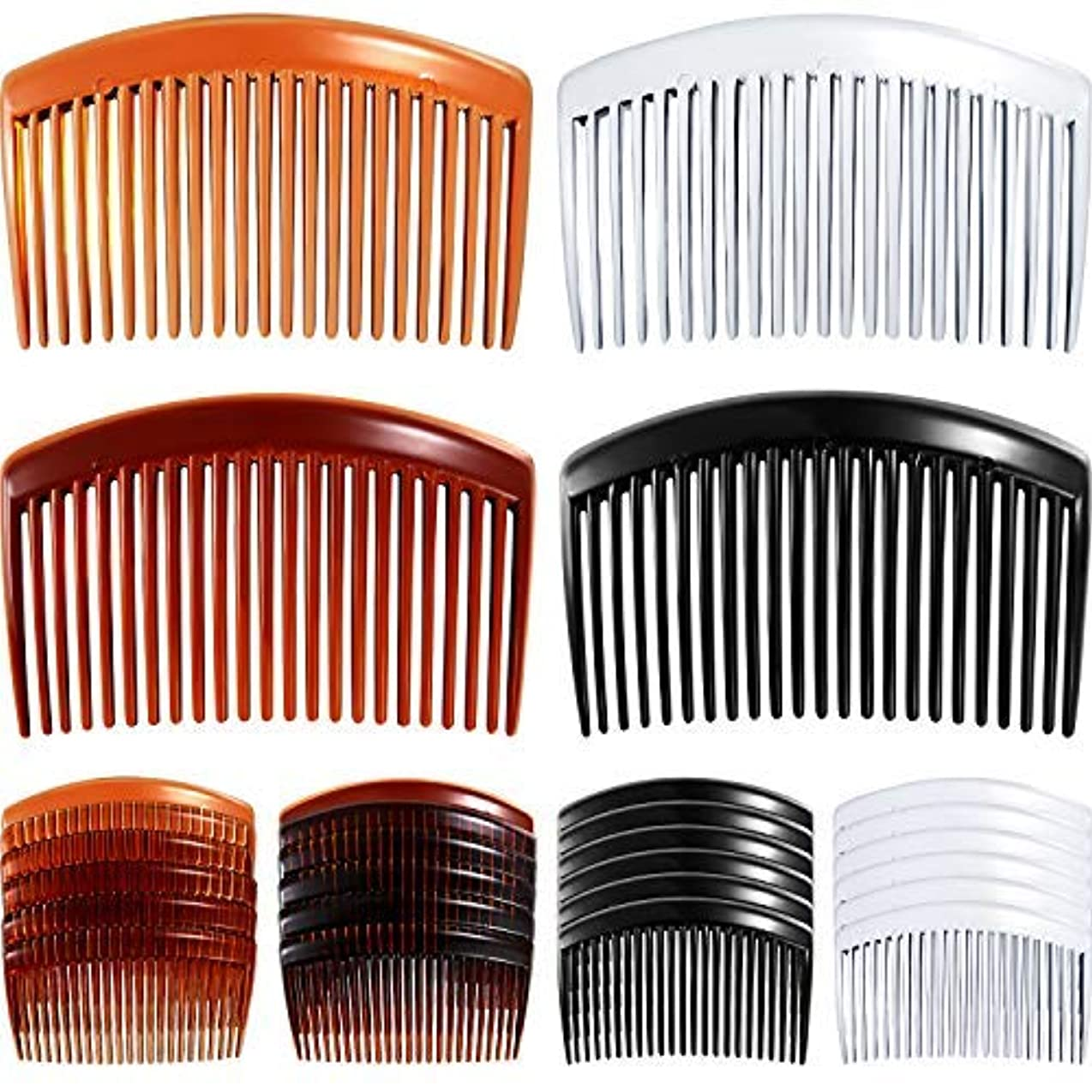 思慮のない小売軍24 Pieces Hair Comb Plastic Hair Side Combs Straight Teeth Hair Clip Comb Bridal Wedding Veil Comb for Fine Hair [並行輸入品]