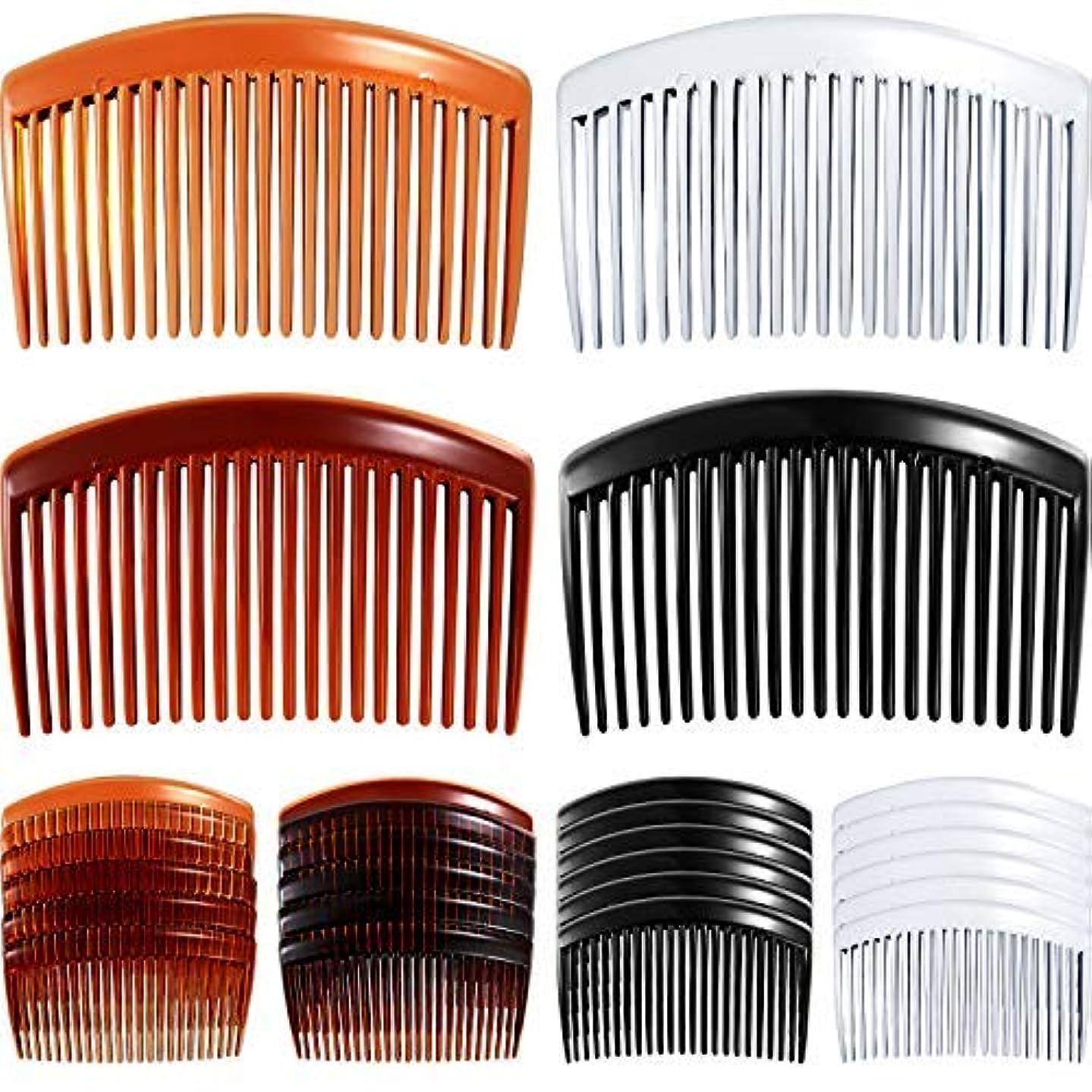 その他雄大な法律により24 Pieces Hair Comb Plastic Hair Side Combs Straight Teeth Hair Clip Comb Bridal Wedding Veil Comb for Fine Hair [並行輸入品]